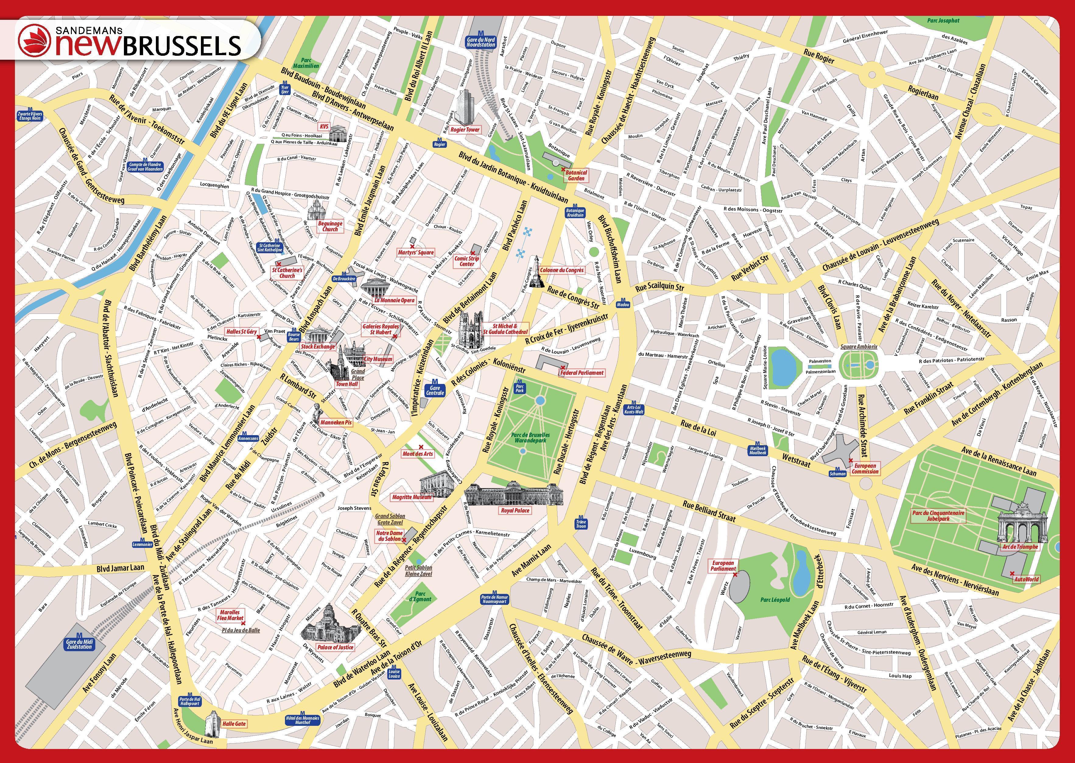 Bruxelles Carte De Visites
