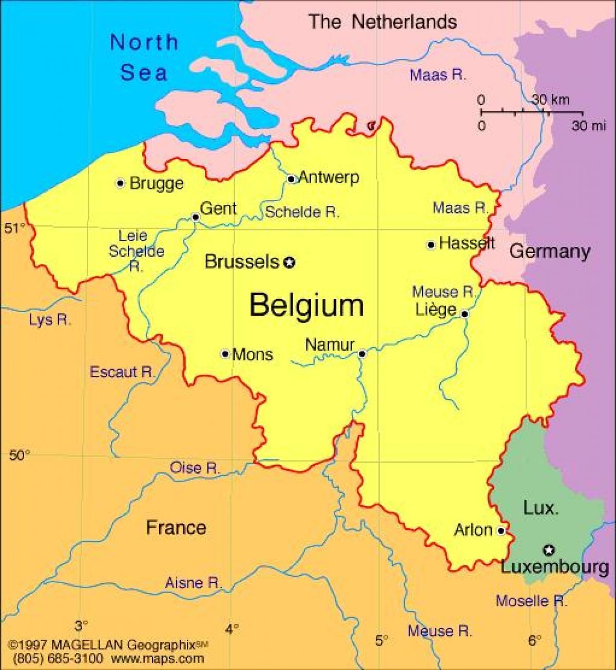 Carte de france et à Bruxelles - Carte de Bruxelles et de la france (Belgique)